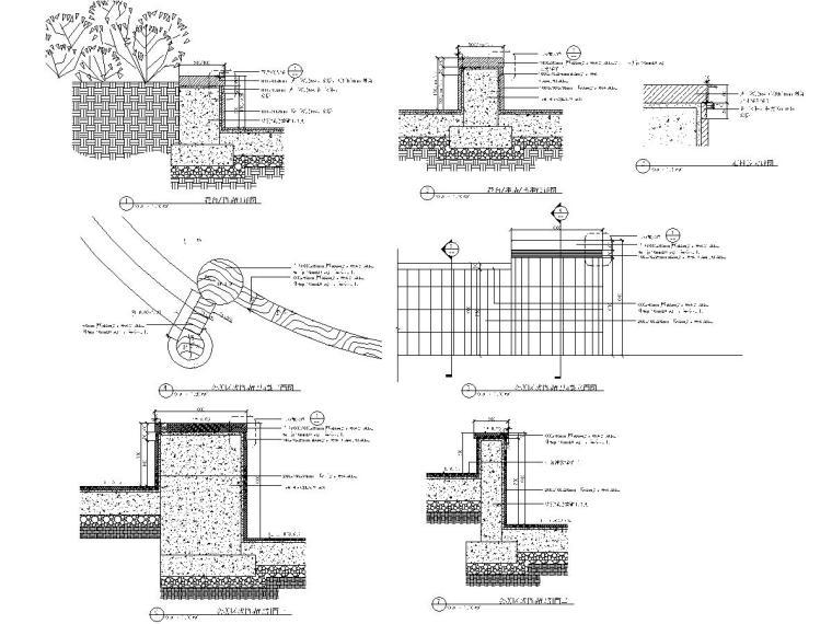 CD966-967 挡墙详图,无障碍坡道及栏杆详图-布局1
