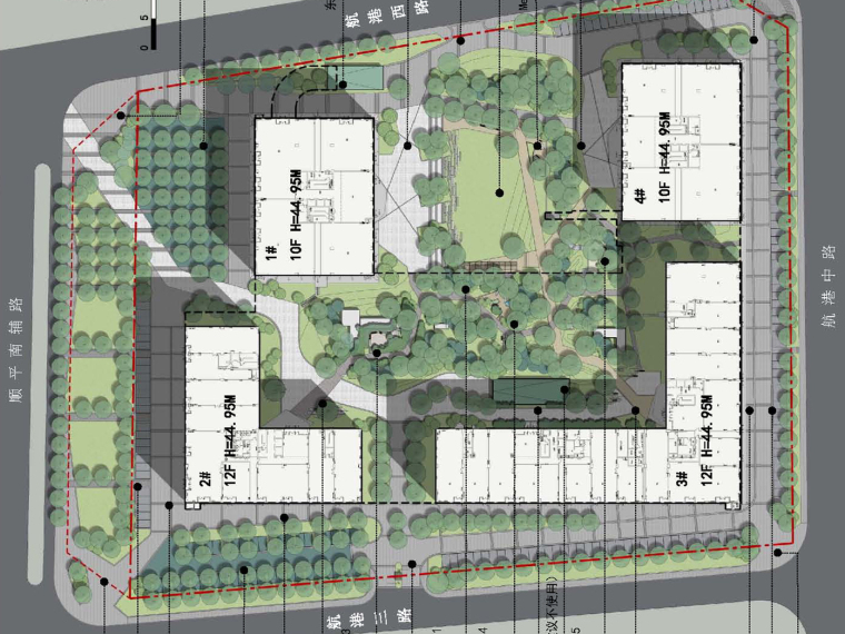 [北京]绿色简洁大气商业街景观规划设计方案