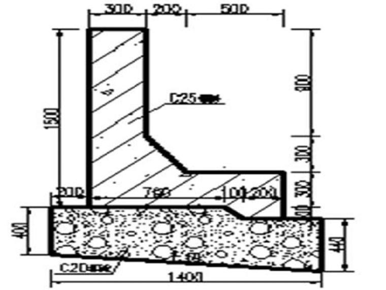L型混凝土挡墙专项施工方案