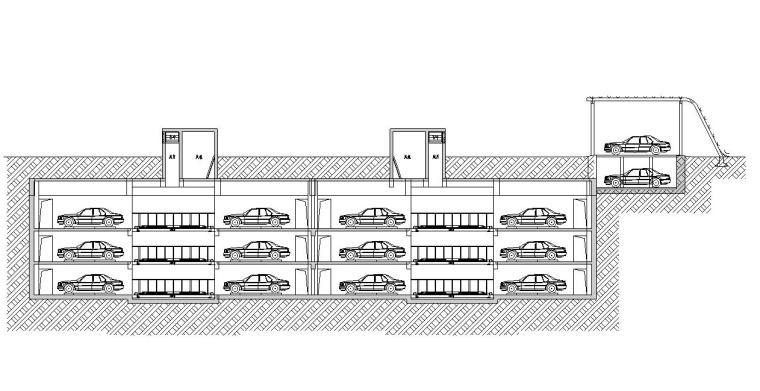 公共智慧停车场北门室外建筑施工图