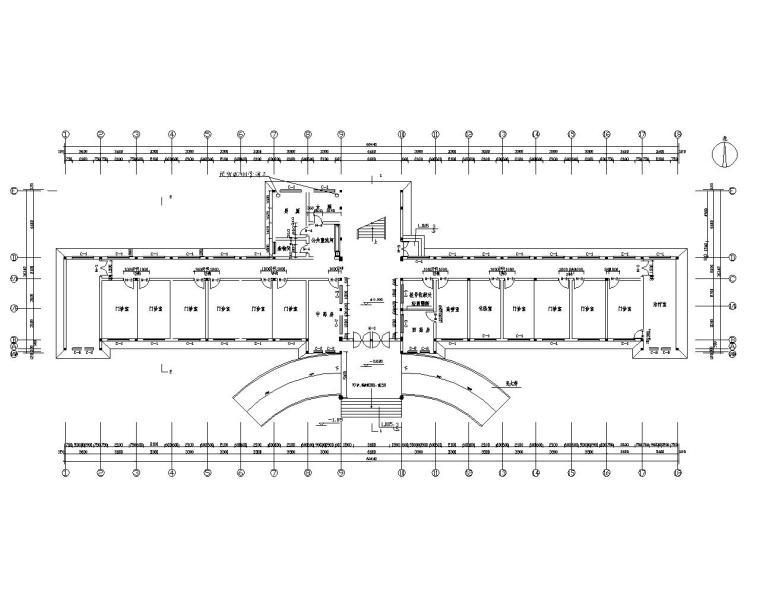二层砖混医院门诊结构施工图(CAD含建筑)