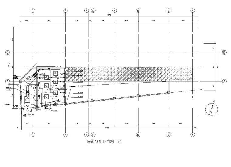 管理用房负一层平面图