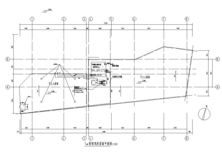 管理用房屋面平面图