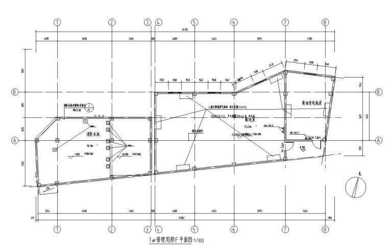 管理用房一层平面图