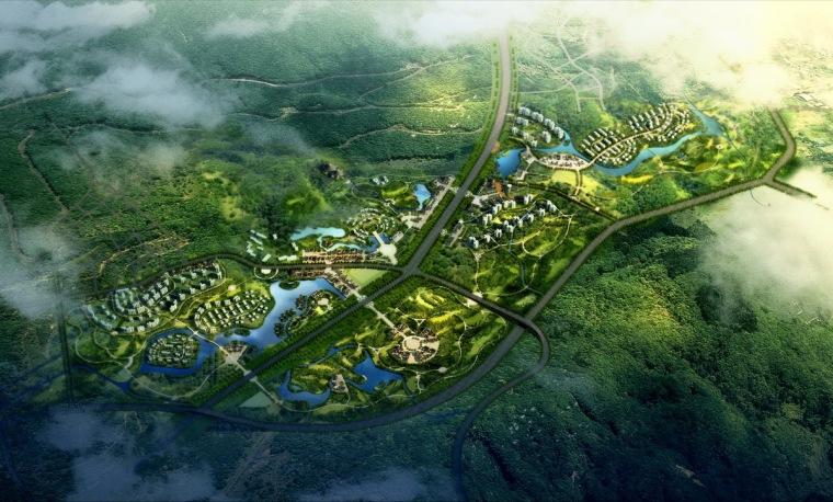 [四川]国际旅游度假区概念规划设计方案