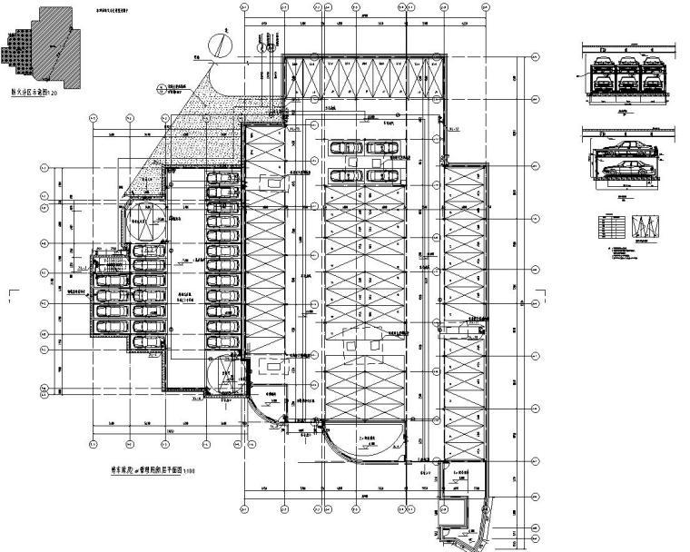 停车库及管理用房平面图
