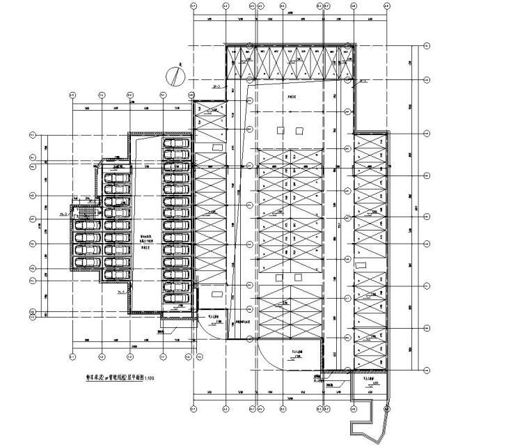 停车库及管理用房2层平面图