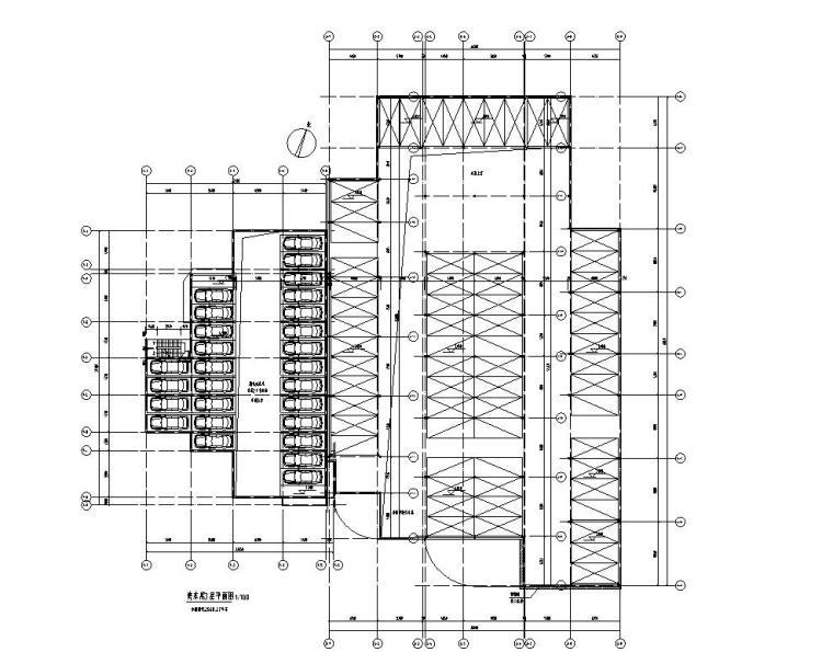 停车库管理用房3层平面图