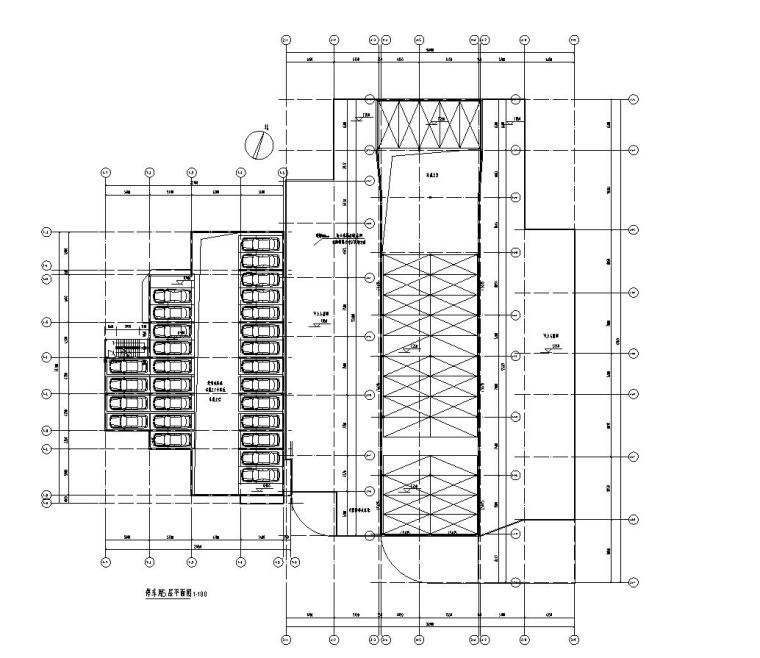 停车库管理用房5层平面图