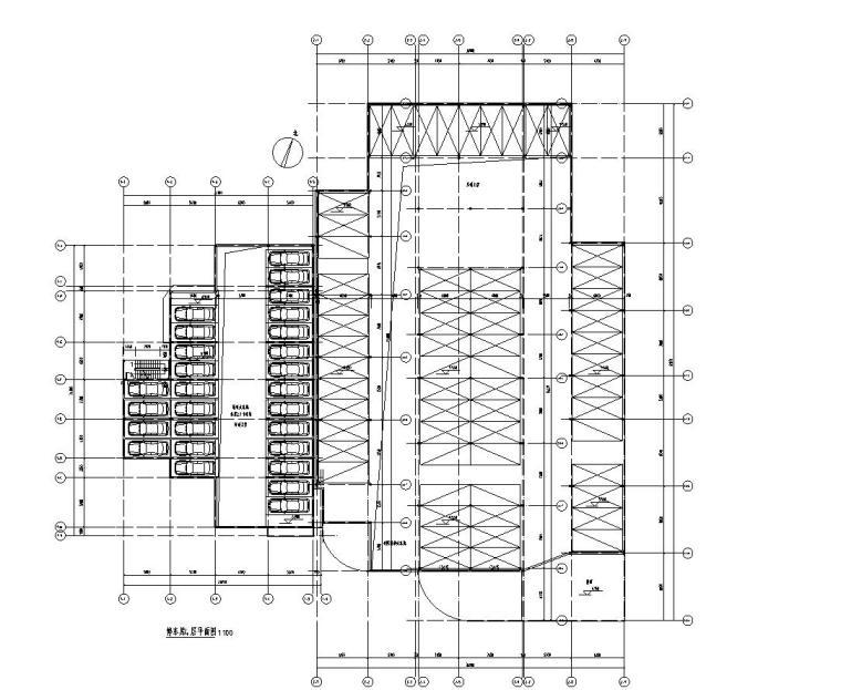 停车库管理用房4层平面图