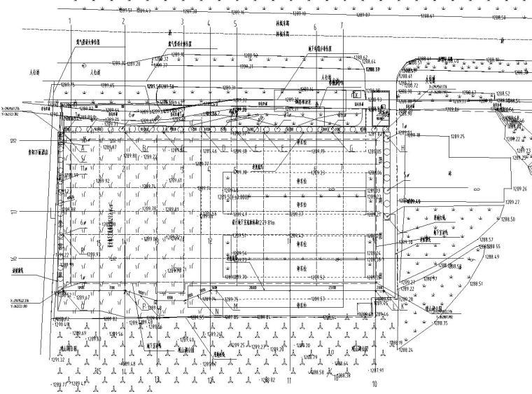 公共智慧停车场北门边坡施工图
