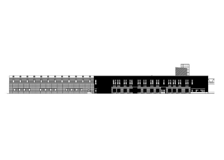 清镇市现代化物流配送中心项目-1#楼立面图1