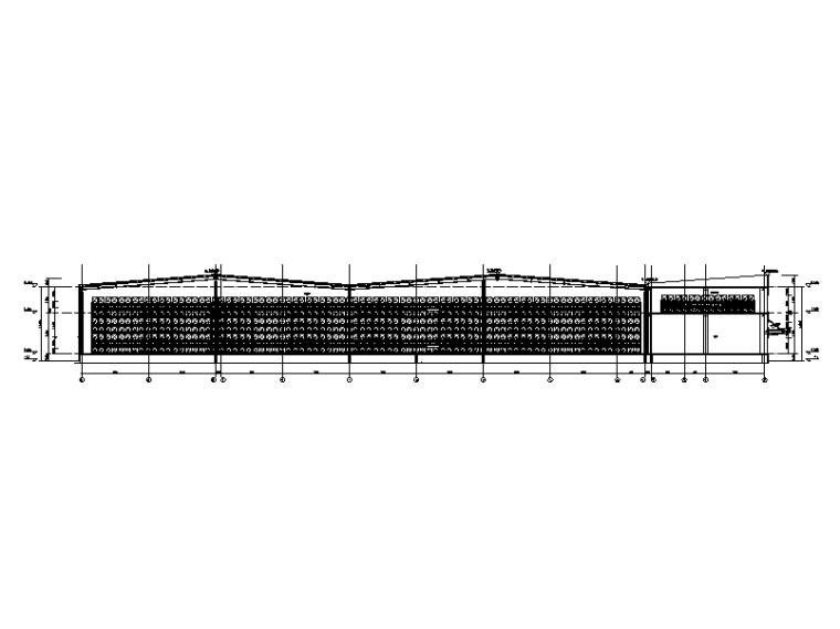 清镇市现代化物流配送中心项目-1#楼1-1剖面图