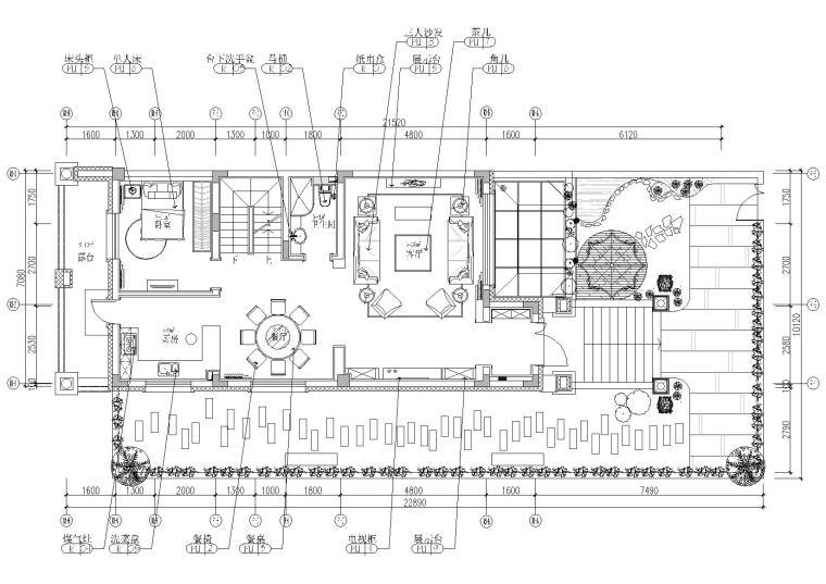 [哈尔滨]保利水韵长滩别墅T5-1户型施工图