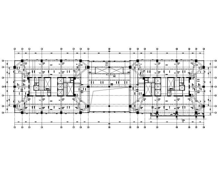 某19层高层办公楼建筑结构施工图(CAD)