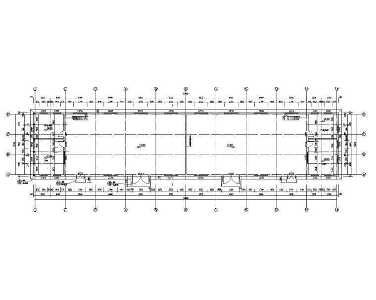 某物流仓库混凝土结构设计施工图(CAD)