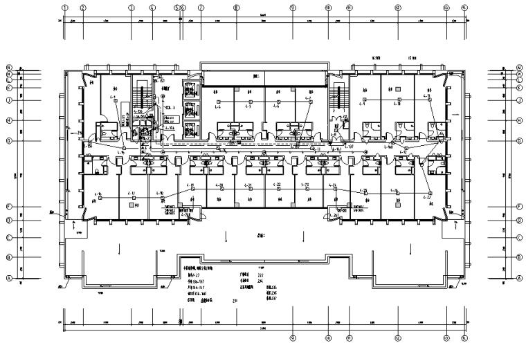 广西知名钢铁公司高层办公楼电气施工图纸