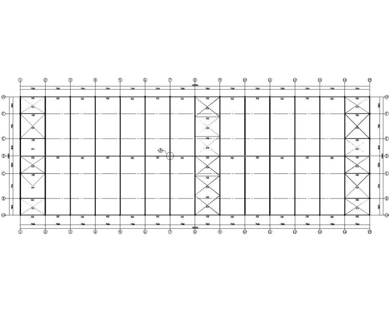 某公司仓库钢结构施工图(CAD)