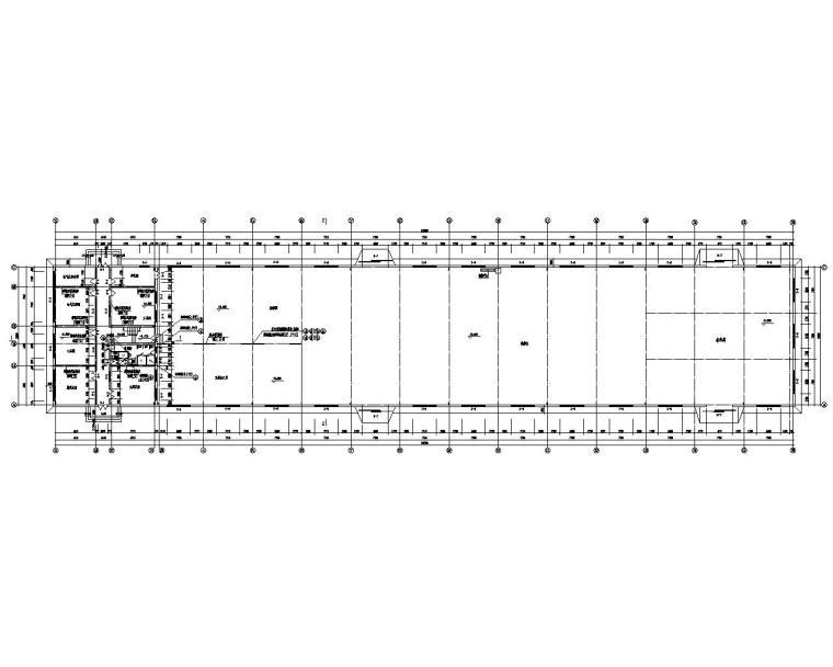 三层车间钢结构厂房设计施工图(CAD)