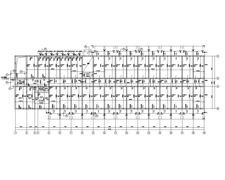 五层学生宿舍楼砖混结构施工图(CAD)