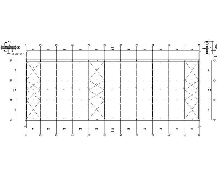 产业园厂区门式钢架结构施工图(CAD)