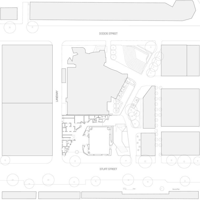 澳大利亚伊恩·波特南岸中心-IPSC_JWA_N742_Site_plan
