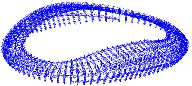 63钢结构整体三维效果图
