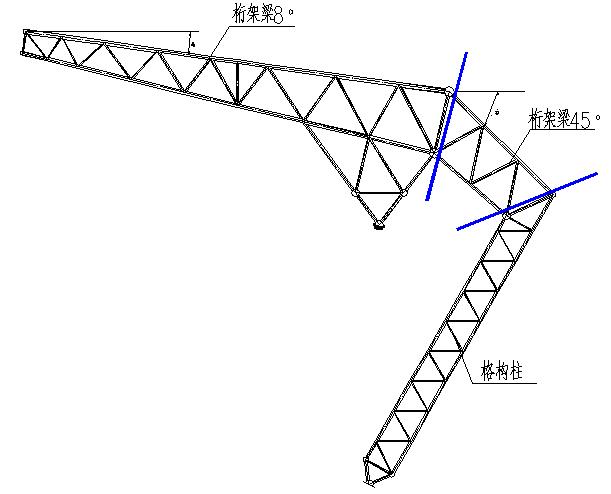 65典型主桁架示意图