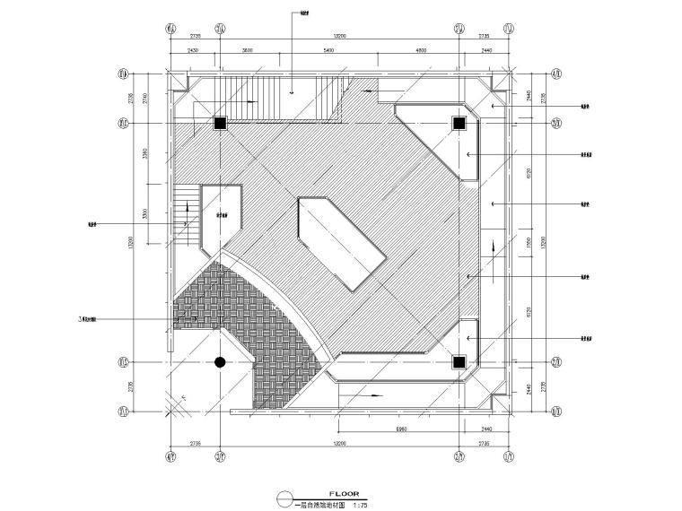 03自然馆一层地面布置图