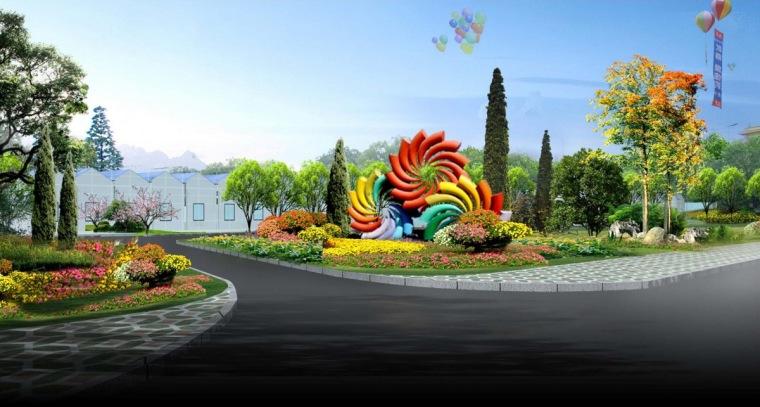 草莓园雕塑物效果图