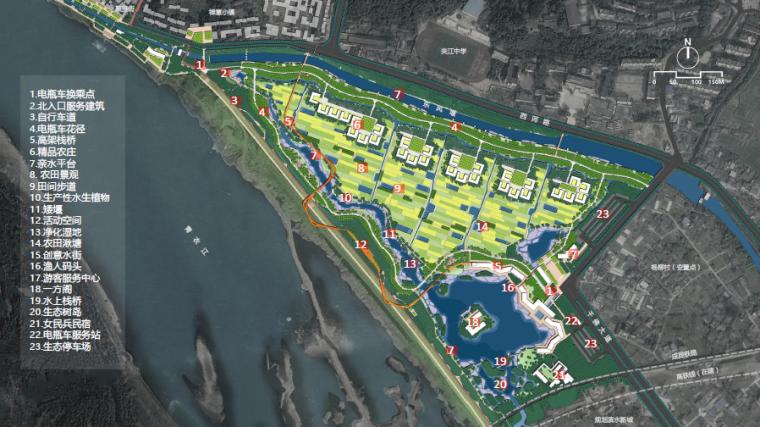 [四川]田园农耕文化湿地公园景观设计方案-总平面图