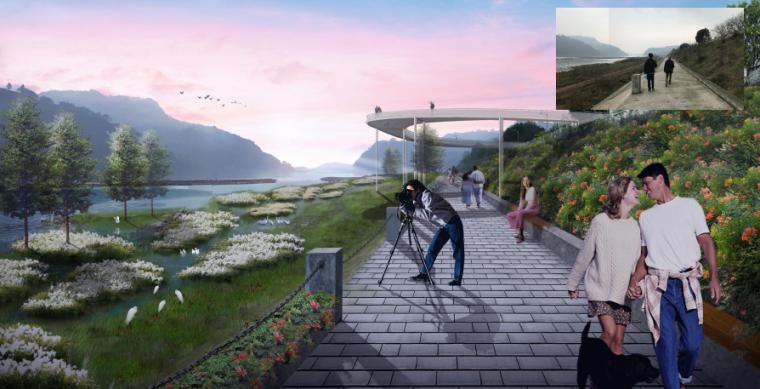 [四川]田园农耕文化湿地公园景观设计方案-滨江游览观光带