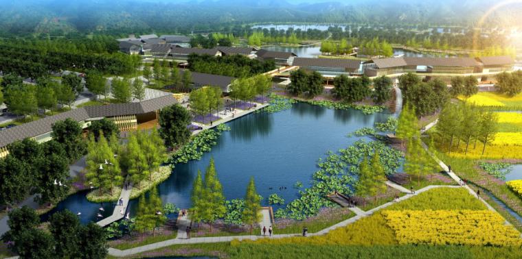 [四川]田园农耕文化湿地公园景观设计方案-农耕文化长廊
