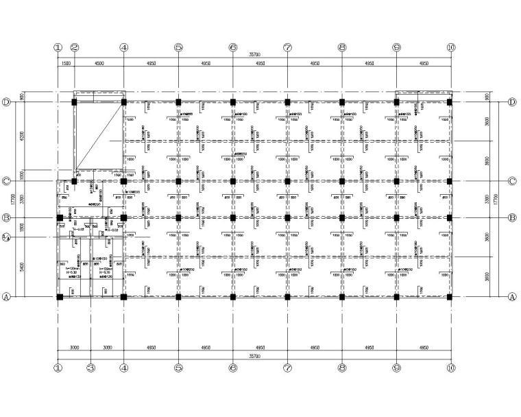 民族中学教学楼混合结构施工图(CAD)
