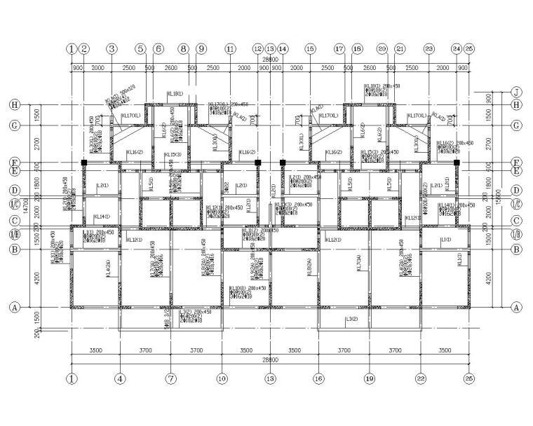 十六层高层剪力墙结构商品房施工图(CAD)