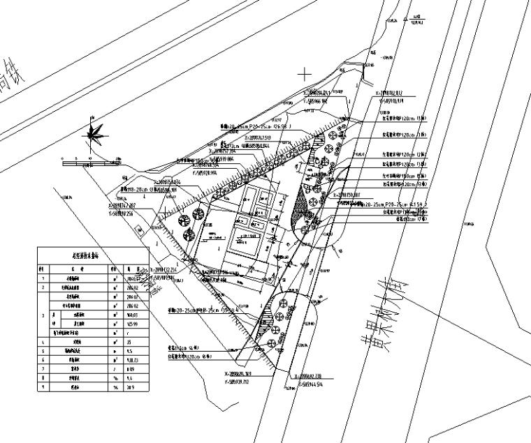 黄果树大街转运站景观总平面图