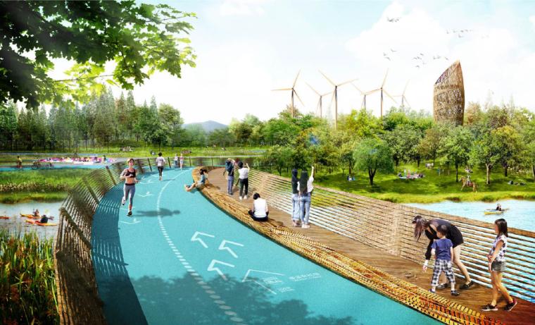 运动步道景观效果图