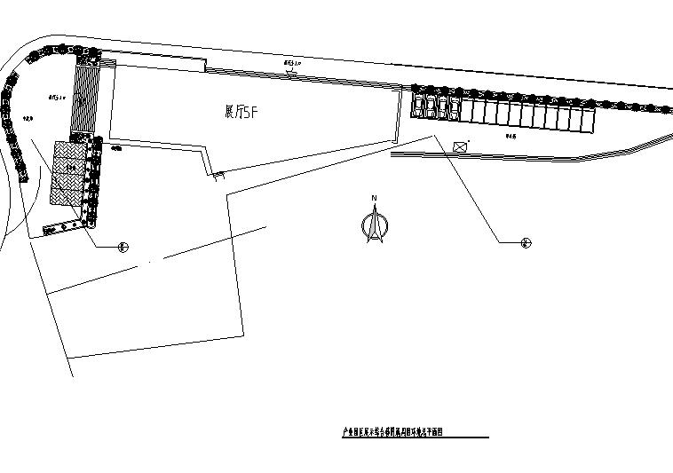 产业园区孵化中心室外环境-总平面图