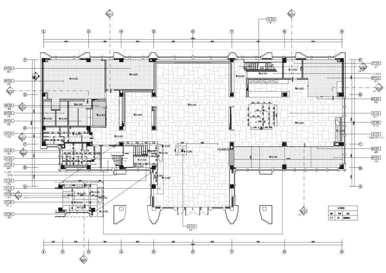 一层地面铺装及地花索引图