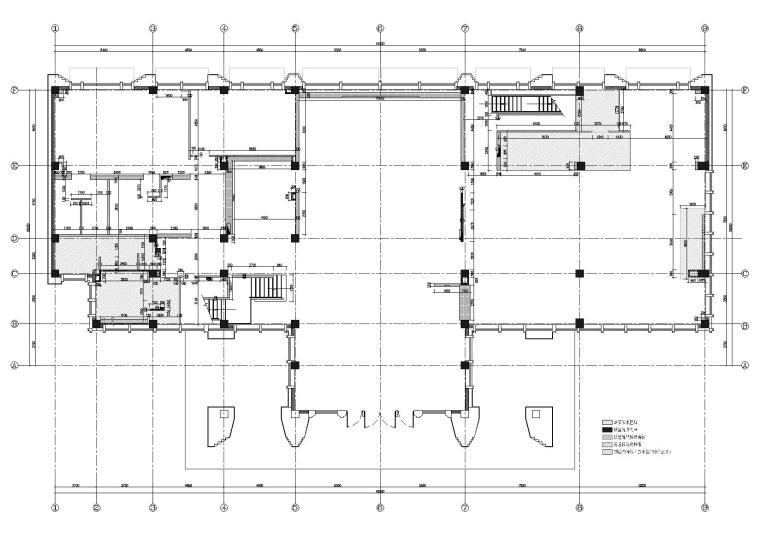 一层隔墙及防水区域定位图