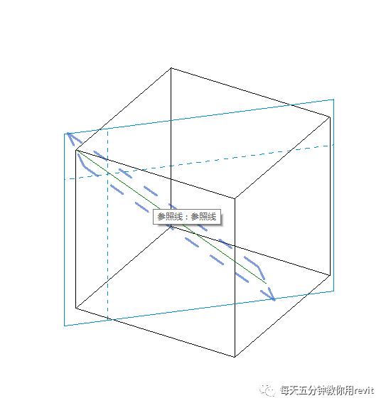 Revit如何设置斜切角参照平面?_4