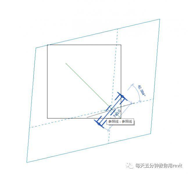 Revit如何设置斜切角参照平面?_5