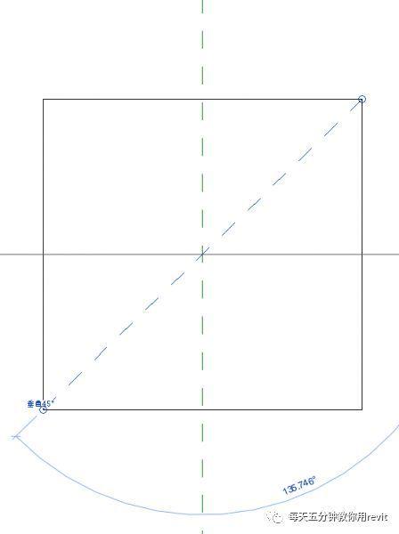 Revit如何设置斜切角参照平面?_2