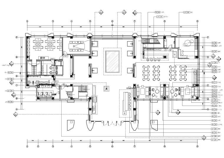 一层家具及设备编号图