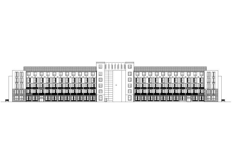 [河北]迁安市中心敬老院综合楼建筑方案图