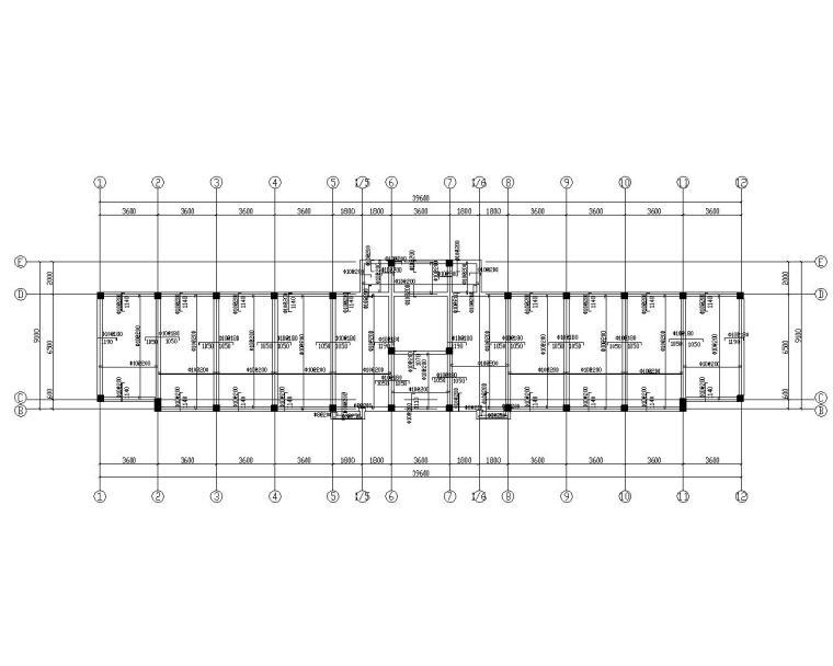 三层教学楼框架结构施工图(CAD)