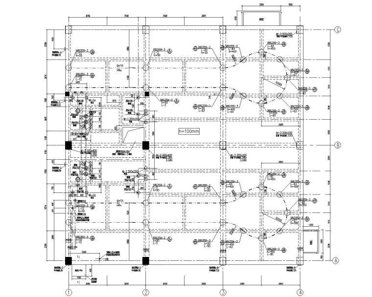 某制浆车间混凝土结构施工图(CAD)