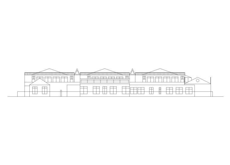 二层幼儿园建筑设计方案图(CAD)