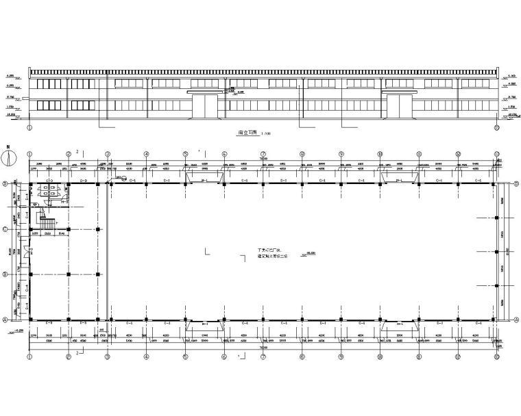 21米二层厂房结构施工图(CAD含建筑图)
