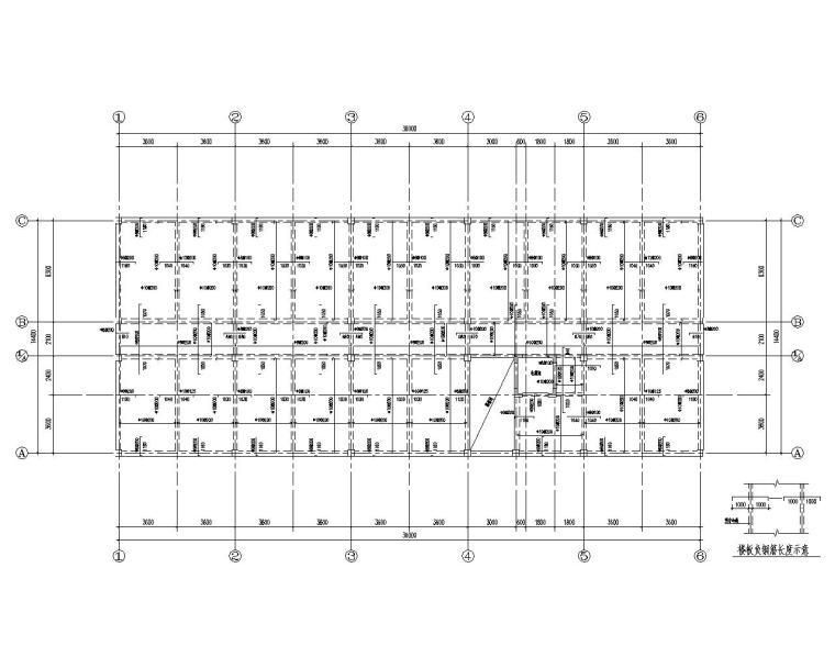 四层办公楼混凝土框架结构施工图(CAD)